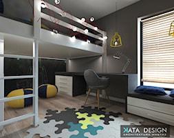 Dom Tychy - Średni szary pokój dziecka dla chłopca dla ucznia dla nastolatka, styl nowoczesny - zdjęcie od katadesign