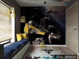 Dom Tychy - Średni szary kolorowy pokój dziecka dla chłopca dla nastolatka, styl nowoczesny - zdjęcie od Studio 4 Design