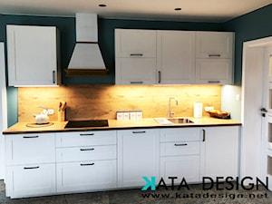 Dom w Krakowie 98 m2 - Średnia zamknięta czarna kuchnia jednorzędowa, styl rustykalny - zdjęcie od Studio 4 Design
