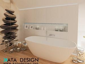 Dom w Kryspinowie - Średnia łazienka na poddaszu w domu jednorodzinnym bez okna, styl nowoczesny - zdjęcie od Studio 4 Design