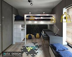 Dom Tychy - Średni szary pokój dziecka dla chłopca dla ucznia dla malucha dla nastolatka, styl nowoczesny - zdjęcie od katadesign