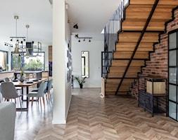 Dom w Węgrzcach - Hol / przedpokój, styl industrialny - zdjęcie od Studio 4 Design - Homebook