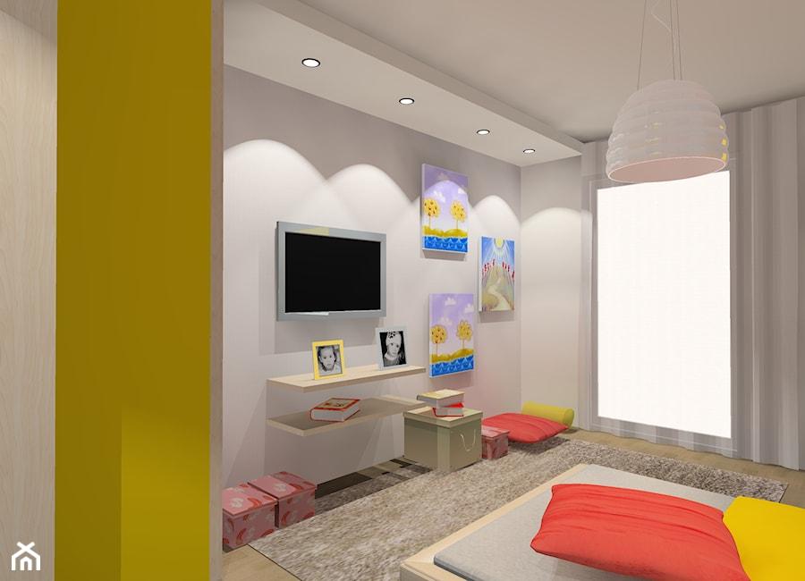 """kolorowy pokój dziewczynki - Pokój dziecka, styl nowoczesny - zdjęcie od Pracownia Aranżacji Wnętrz """"O-Kreślarnia"""""""