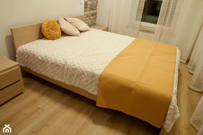 """Karmelowy loft - Sypialnia, styl nowoczesny - zdjęcie od Pracownia Aranżacji Wnętrz """"O-Kreślarnia"""" - Homebook"""