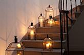 metalowe latarenki w stylu vintage
