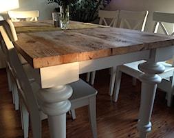Stylowy stół z blatem ze starego drewna. - zdjęcie od Alldeco Sp. z o.o.