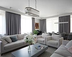 Apartament na Wilanowie. - Średni szary salon z jadalnią, styl nowoczesny - zdjęcie od Soma Architekci - Homebook