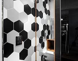 Wola - Mała łazienka w bloku w domu jednorodzinnym bez okna, styl nowoczesny - zdjęcie od Soma Architekci - Homebook