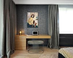 Apartament na Wilanowie. - Średnia czarna sypialnia małżeńska, styl nowoczesny - zdjęcie od Soma Architekci - Homebook