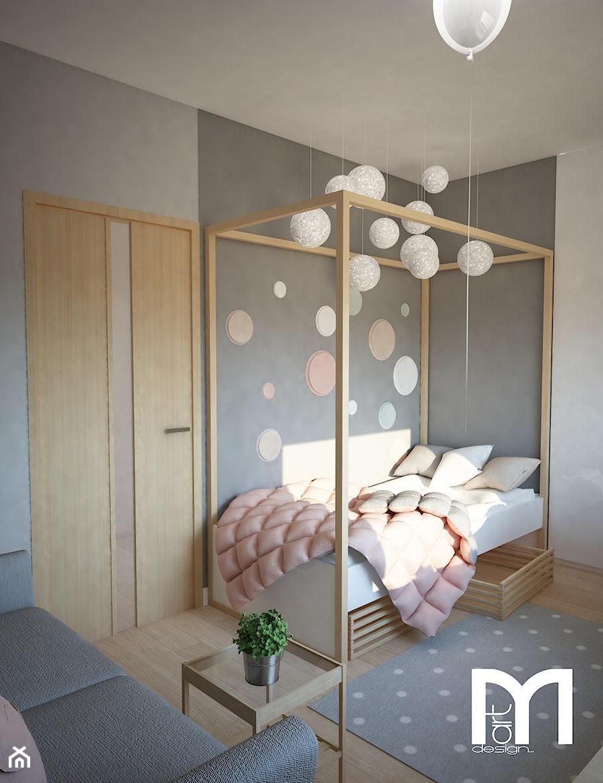 Aranżacje wnętrz - Pokój dziecka: Projekt domu jednorodzinnego z pastelowymi kolorami - Mały szary pokój dziecka dla dziewczynki dla malucha dla nastolatka, styl nowoczesny - Mart-Design Architektura Wnętrz. Przeglądaj, dodawaj i zapisuj najlepsze zdjęcia, pomysły i inspiracje designerskie. W bazie mamy już prawie milion fotografii!