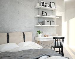 Mieszkanie we Wrocławiu, styl skandynawski - Mały szary pokój dziecka dla chłopca dla ucznia dla nastolatka, styl skandynawski - zdjęcie od Mart-Design Architektura Wnętrz