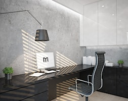 Dom koło Ostrołęki w stylu GLAMOUR - Małe szare biuro domowe, styl nowoczesny - zdjęcie od Mart-Design Architektura Wnętrz