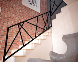 Projekt domu jednorodzinnego okolice Ostrołęki - Średnie schody, styl nowoczesny - zdjęcie od Mart-Design Architektura Wnętrz
