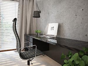 Dom koło Ostrołęki w stylu GLAMOUR - Małe szare biuro kącik do pracy, styl nowoczesny - zdjęcie od Mart-Design Architektura Wnętrz