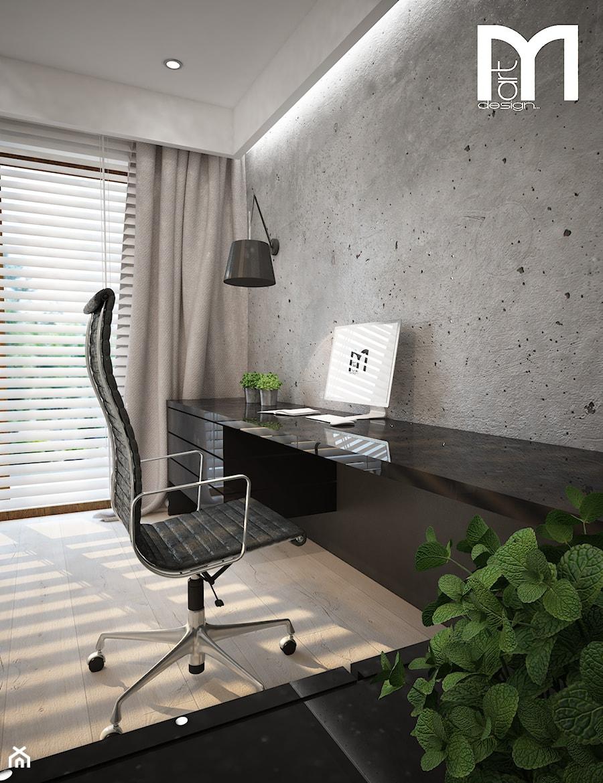 Aranżacje wnętrz - Biuro: Dom koło Ostrołęki w stylu GLAMOUR - Małe szare biuro kącik do pracy, styl nowoczesny - Mart-Design Architektura Wnętrz. Przeglądaj, dodawaj i zapisuj najlepsze zdjęcia, pomysły i inspiracje designerskie. W bazie mamy już prawie milion fotografii!