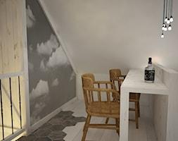 Poddasze styl skandynawski - Mała zamknięta szara jadalnia jako osobne pomieszczenie, styl skandynawski - zdjęcie od Mart-Design Architektura Wnętrz