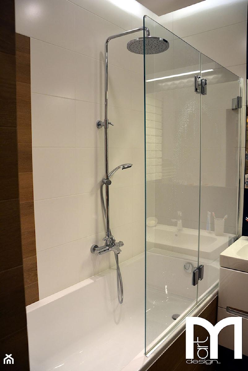 Projekt i realizacja/Mieszkanie Warszawa - Mała łazienka w bloku bez okna, styl nowoczesny ...