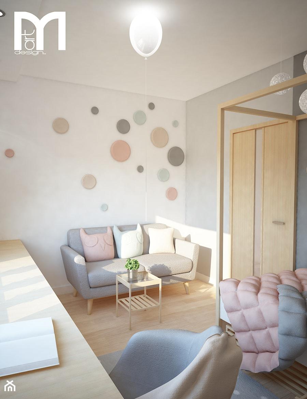 Projekt domu jednorodzinnego z pastelowymi kolorami - Średni szary pokój dziecka dla chłopca dla dziewczynki dla nastolatka, styl nowoczesny - zdjęcie od Mart-Design Architektura Wnętrz