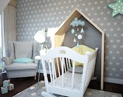 Projekt pokoju niemowlaka - Mały szary pokój dziecka dla chłopca dla dziewczynki dla niemowlaka, styl nowoczesny - zdjęcie od Mart-Design Architektura Wnętrz