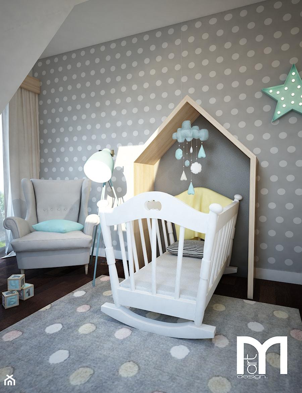 projekt pokoju niemowlaka ma y szary pok j dziecka dla ch opca dla dziewczynki dla niemowlaka. Black Bedroom Furniture Sets. Home Design Ideas
