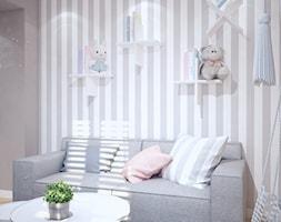 Nowoczesny pokój dla dziewczynki - Mały biały szary pokój dziecka dla chłopca dla dziewczynki dla malucha dla nastolatka, styl klasyczny - zdjęcie od Mart-Design Architektura Wnętrz