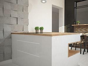 Nowoczesna kuchnia z akcentem betonu