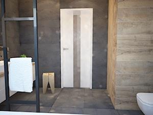 Ciemna łazienka, a jednak przytulna...