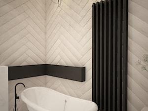 Mieszkanie we Wrocławiu, styl skandynawski - Mała biała łazienka na poddaszu w bloku w domu jednorodzinnym bez okna, styl vintage - zdjęcie od Mart-Design Architektura Wnętrz