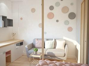 Projekt domu jednorodzinnego z pastelowymi kolorami - Mały biały pokój dziecka dla dziewczynki dla malucha dla nastolatka, styl nowoczesny - zdjęcie od Mart-Design Architektura Wnętrz