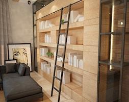 Dom w Brodnicy - Mały szary brązowy salon, styl nowoczesny - zdjęcie od Mart-Design Architektura Wnętrz