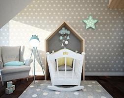 Projekt pokoju niemowlaka - Średni biały szary pokój dziecka dla dziewczynki dla niemowlaka, styl nowoczesny - zdjęcie od Mart-Design Architektura Wnętrz