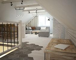 Poddasze styl skandynawski - Średni biały hol / przedpokój, styl skandynawski - zdjęcie od Mart-Design Architektura Wnętrz