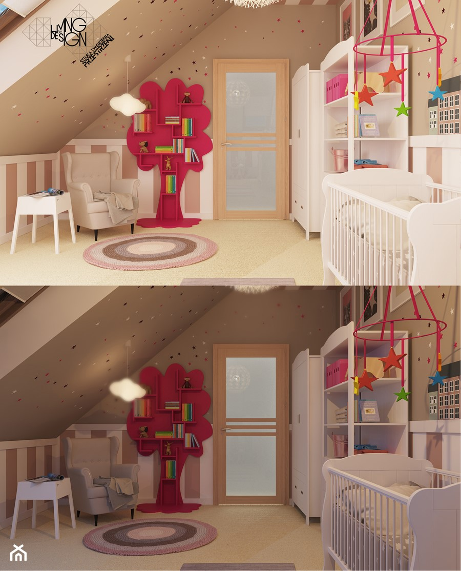 Aranżacje wnętrz - Pokój dziecka: Ach śpij Kochanie... - Pracownia projektowa: Living by Design - sztuka tworzenia przestrzeni. Przeglądaj, dodawaj i zapisuj najlepsze zdjęcia, pomysły i inspiracje designerskie. W bazie mamy już prawie milion fotografii!