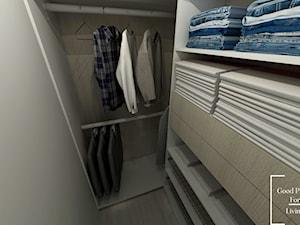 Osiedle Avia - Mała otwarta garderoba oddzielne pomieszczenie - zdjęcie od Good Place For Living