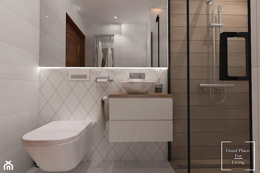 Funkcjonalna łazienka Na 3m2 Mała Szara łazienka Na