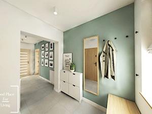Salon z aneksem - Tymbark - Średni biały zielony hol / przedpokój, styl nowoczesny - zdjęcie od Good Place For Living