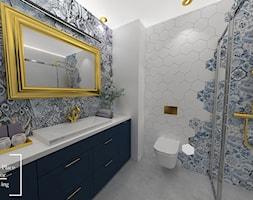 Eklektyczne mieszkanie w Katowicach - Średnia biała łazienka w bloku w domu jednorodzinnym bez okna, styl eklektyczny - zdjęcie od Good Place For Living