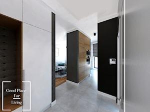 Osiedle Fi - 48 m2 - Średni czarny szary hol / przedpokój, styl nowoczesny - zdjęcie od Good Place For Living