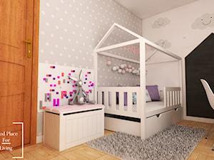 Pokój uczennicy - Mały szary pokój dziecka dla chłopca dla dziewczynki dla ucznia dla malucha dla nastolatka - zdjęcie od Good Place For Living