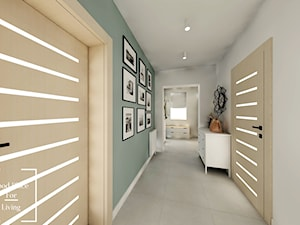 Salon z aneksem - Tymbark - Średni szary zielony hol / przedpokój, styl nowoczesny - zdjęcie od Good Place For Living