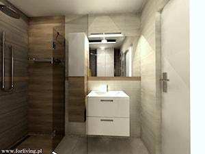 Mieszkanie w stylu loft - Średnia brązowa szara łazienka bez okna, styl eklektyczny - zdjęcie od Good Place For Living