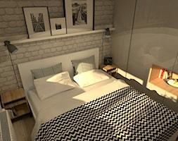Mieszkanie w stylu loft - Mała biała sypialnia małżeńska, styl eklektyczny - zdjęcie od Good Place For Living
