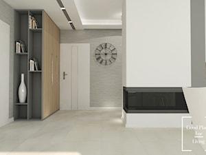Dom jednorodzinny, Puławy - Średni biały szary hol / przedpokój, styl minimalistyczny - zdjęcie od Good Place For Living