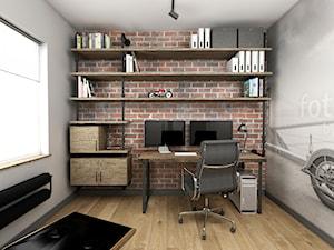 Przytulny industrial - Średnie biuro pracownia w pokoju, styl industrialny - zdjęcie od Good Place For Living