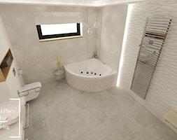 Elegancka łazienka w domu jednorodzinnym - Duża łazienka w bloku w domu jednorodzinnym z oknem, styl klasyczny - zdjęcie od Good Place For Living