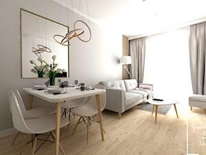 Subtelne wnętrze ul. Bunscha - Mała otwarta szara jadalnia w salonie - zdjęcie od Good Place For Living
