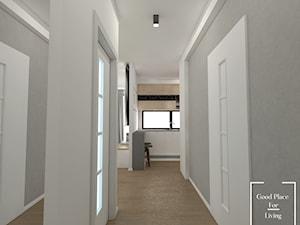 Kraków, ulica Skowronia - 57 m2 - Mały biały szary hol / przedpokój, styl skandynawski - zdjęcie od Good Place For Living