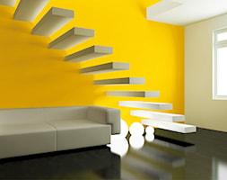 Aranżacje - Średnie wąskie schody jednobiegowe drewniane - zdjęcie od Sto