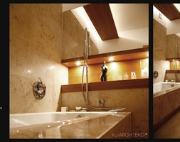Wnętrza apartamentu w Krakowie/ Toaleta - zdjęcie od KJ Architekci