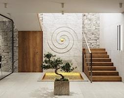 Wnętrza centrum Golden Mean - Duży szary hol / przedpokój, styl nowoczesny - zdjęcie od KJ Architekci